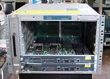 Cisco 7606-S Chassis 6-Slot CISCO7606-S w/ 2x SUP720-3B & Dual 2700W AC PSU