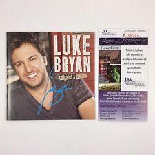 Luke Bryan Signed Autographed Tailgates & Tanlines CD Album JSA COA