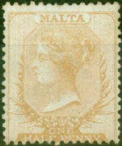 Malta 1863 1/2d Pale Buff SG3a Fine & Fresh Unused