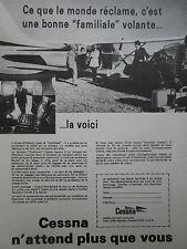 5/1971 PUB AVION CESSNA AIRCRAFT CESSNA STATIONAIR FLUGZEUG FRENCH AD