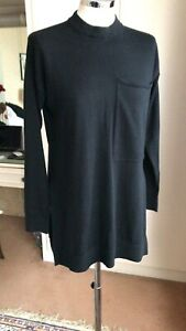 JOSEPH Merino Wool Black Colour Tunic Size S/UK 10