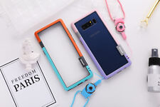 Soft TPU+Plastic Bumper With Lanyard For Samsung Galaxy Note 8/5/4 Phone Case
