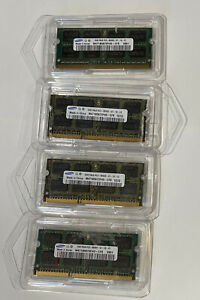 SAMSUNG Lot Of 4 (8GB Total) (4x2G) 2Rx8 PC3-8500S-07-10-F2 LAPTOP MEMORY RAM