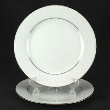 "Noritake Tahoe Contemporary White Silver Floral Set of 2 - 6 3/8"" Plate #2585"