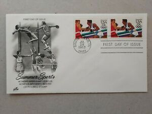 US 1983 Summer Olympic FDC  , South Bend IN