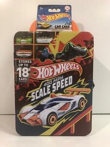 Hot Wheels Holds 18 Cars Tin Carry Case 400 MPH Scale Speed New