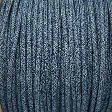 Denim Round Braided Fabric Cable 3Core 0.5mm for lighting(Cable textil trenzado)