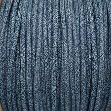 Denim tissu tressé rond câble 3core 0,5 mm pour éclairage (câble Textil trenzado)