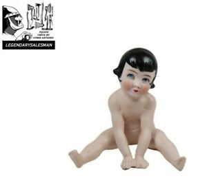 BISQUE NAKED GIRL FIGURINE POSSIBLY GERMAN ART DECO ANTIQUE