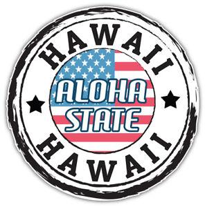 """Hawaii USA State Grunge Flag Emblem Car Bumper Sticker Decal """"SIZES"""""""
