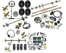 "29"" 44"" Go Kart Rear Live Axle Kit Brake Assembly 6"" 7"" 8"" Wheels Sprocket & Hub"