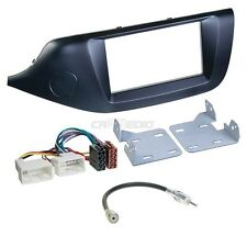 KIA CEED JD Since 12 2-Din Car Radio Installation Set Faceplate Matte Black