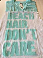 Victorias Secret PINK Tank  BEACH HAIR DON'T CARE  SMALL S NWT