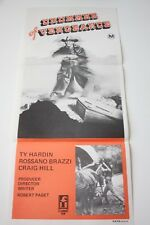 Og DRUMMER OF VENGEANCE Doomsday daybill Movie poster Cult Classic Western Noir