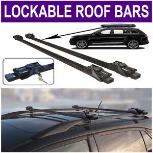 STEEL LOCKABLE ANTI THEFT ROOF BARS CARS RAILS LOCKABLE VAUXHALL MOKKA 2012on