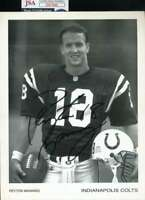 Peyton Manning JSA Coa Autograph Hand Signed Early 8x10 Photo