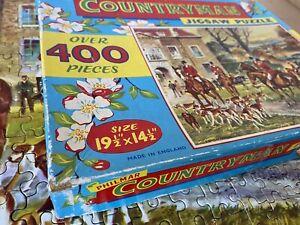 Vintage 60's Philmar Countryman 'The Meet':400+ Piece Jigsaw Puzzle:370 x 495mm
