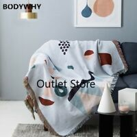 Nordic Throw Blanket Multifunction Wonderland Decor Slipcover Sofa Bed Blankets