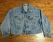 Vintage 80's 90's Guess Denim Jacket Medium Distressed Trucker Boxy Fit