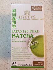 HYLEYS Pure Japonais Matcha With Ceylon Sencha 25 Tea Bags