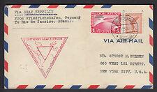 Zeppelin Chicagofahrt 1933 1 Mark Chicagofahrt via Brasilien New York (S11573)