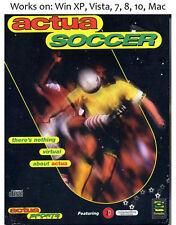 VR Soccer 96 PC Mac Game Actua Soccer