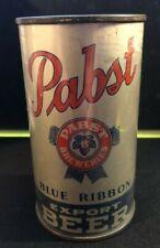 PABST BLUE RIBBON Export Tapacan Flat Top BEER DISPLAY CAN Keglined 1939 - Rare