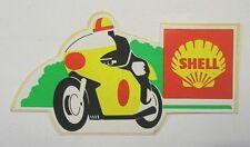 VECCHIO ADESIVO MOTO ORIGINALE / Old Original Sticker SHELL (cm 10,5 x 6).