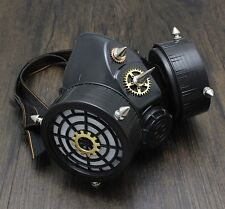 SteamPunk Gears Spike Vintage Cosplay Masuqes Gas Mask Respirator