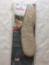 Pedag 130 Pascha Genuine Wool Lambskin Insoles with Natural Cork Insulation