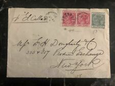 1892 Barbados Commercial Cover To New York USA #44 43