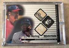 New listing Mark McGwire Sammy Sosa 2000 Upper Deck SPx Winning Materials Relic Card