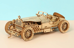3D Puzzle Wooden Retro Vintage Car Vehicle Model Building Kit Kids Adults Gift