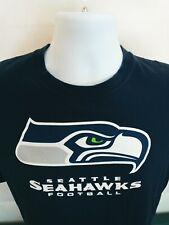 NFL Team Apparel Blue Seattle Seahawks Tee T-Shirt Top XXL 2X-Large Cotton Mens