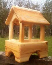 Small Pagoda style table mount Cedar wood bird/squirrel feeder,The Birds Nest