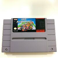 Super Mario Kart - Authentic SNES Super Nintendo Game Tested Working - AUTHENTIC