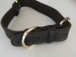 Daihaqiko Premium Leather Dog Collar for Large Dogs