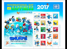 united nations 2017 NY International Day Happines Smurfs Schtroumpfs Pitufo ms10