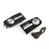 Pair Luz De Niebla Lámpara W/Daylight H3 Para VW Golf 5 MK5 Rabbit&Wiring KitES