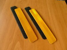 3M Yellow reflective patch for tactical gear Molle loops. 1 x 6 inches. 2 pcs.