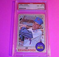 1968 Topps #92 Ed Kranepool New York Mets, Graded PSA 8 NM-MT NmMt