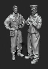 1/35 Resin Figure Model Kit German Soldiers Officers WWII WW2 Unpainted Unassamb