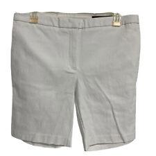 Chaps Tropical Bay White Bermuda Shorts Size 6