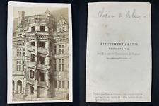Mieusement, France, Blois, Le château. Vintage cdv albumen print, CDV, tirage