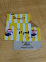 Vintage Pepsi Cola 6 Pack Bottle Carrier Cardboard 1960s Box Advertising Soda