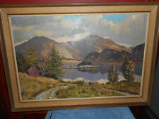 Original JOHN HART Oil Painting Impressionist LOCH LONG GLASGOW SCOTLAND C.A.I