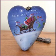 And To All A Good Night Santa & Sleigh Sculpture Ornament Free U.S. Ship
