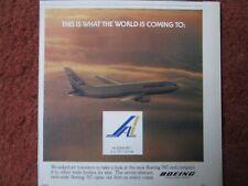10/1982 PUB BOEING 767 AIRLINER ALASKA INTERNATIONAL AIRLINES ORIGINAL AD