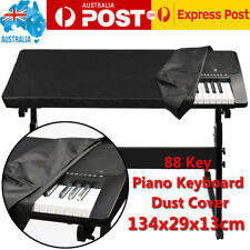 88 Key Piano Keyboard Dust Cover for Electronic Keyboard and Digital Piano Black