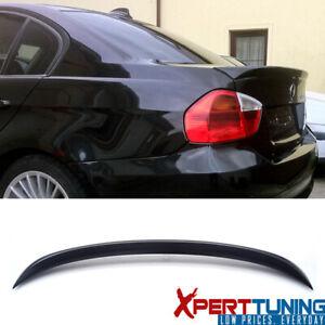 Fits 06-11 BMW 3 Series E90 Sedan M3 OE Rear Trunk Spoiler Wing Unpainted Black